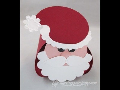 Curvy Keepsake Box  Santa Punch art
