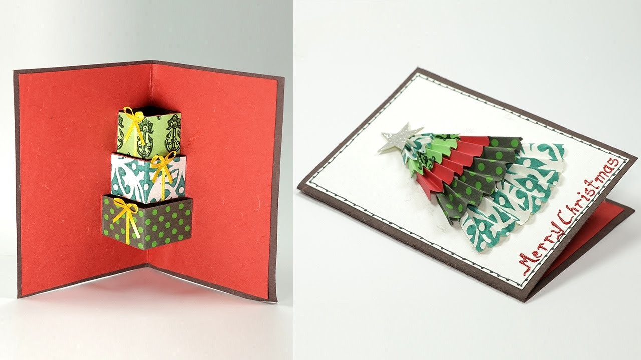 Diy 3d Christmas Card Handmade Christmas Pop Up Card