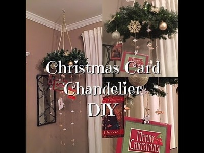 DIY Christmas Card Chandelier - Holiday Dollar Store Supplies