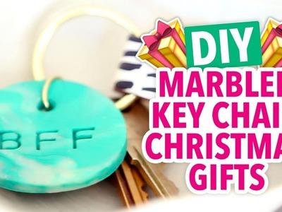 DIY Christmas Gifts - Stamped Marbled Key Chains - HGTV Handmade
