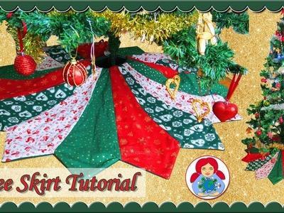 DIY | Holiday Tree Skirt + FREE PATTERN!! • Sami Doll Tutorials