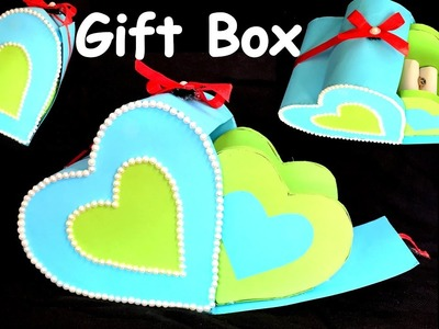 DIY - How to make HEART GIFT BOX?.paper craft. best gift ideas.