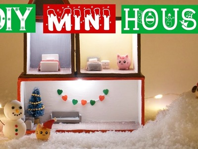 DIY MINI WINTER CHRISTMAS HOUSE!