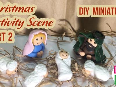 DIY Miniature Christmas Nativity Scene | How to make a Miniature Christmas Crib | Part 2