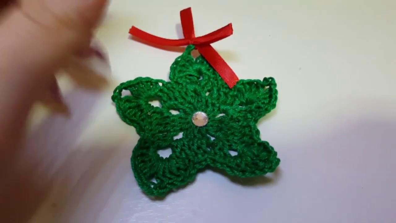 DIY Natale- decorazioni fai da te - stella all'uncinetto - diy Christmas crochet star