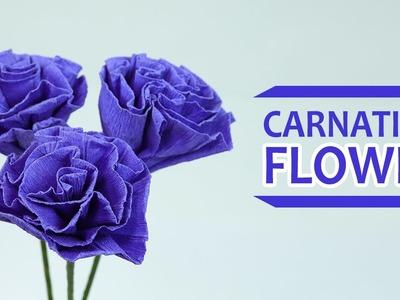 DIY Paper Flowers: How to Make Crepe Paper Flowers Easy Tutorial (Carnation Flower)
