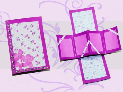 Do if yourself greeting cards twist and pop card. diy gift card. Love card. DIY beauty and easy