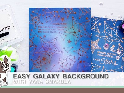 Easy Galaxy Inking Background Card with Yana Smakula