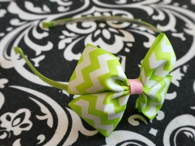 Hair Bow on Headband Simple Tutorial with Artemis in Love