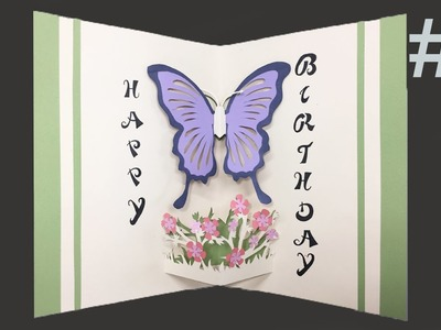 Happy Birthday Card #3 (Butterfly) - Pop-Up Card Tutorial