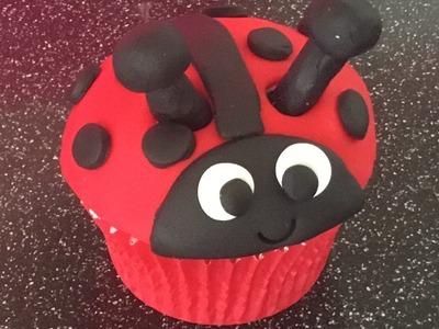 How To Make A Ladybird Cupcake tutorial ladybug