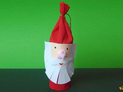 How to make a Toilet Paper Roll Santa Claus? DIY