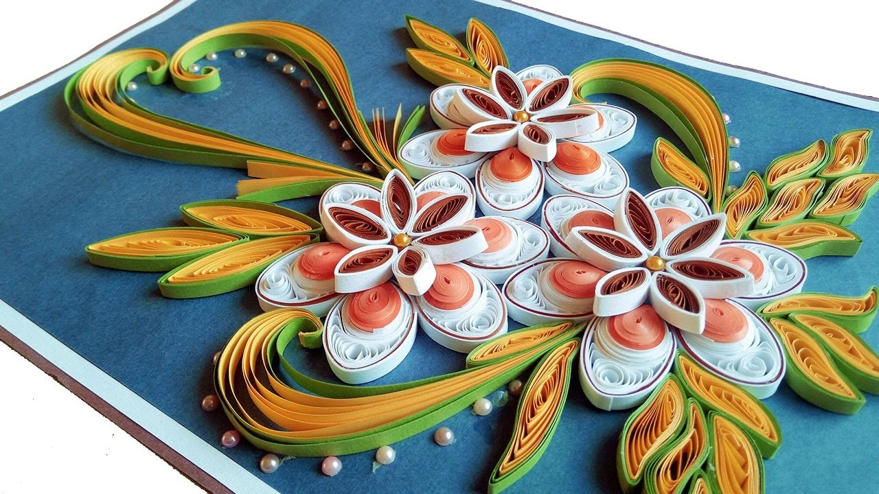 How To Make Beautiful Quilling Flowers Birthday Gift Greeting