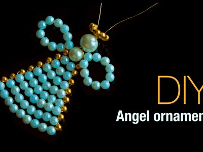 How to make christmas angel ornaments   christmas tree decoration    DIY easy angel ornament