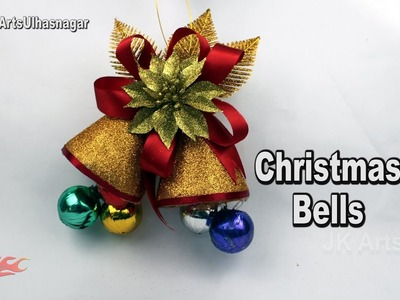 How To Make Christmas Bells from waste Bottles |  DIY Christmas Decoration Ideas | JK Arts 1141