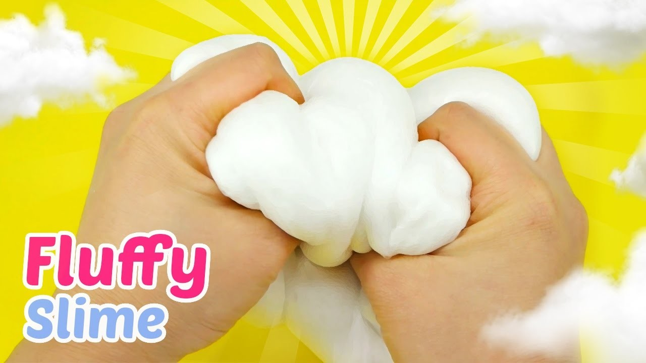 How To Make Fluffy Slime DIY - Cloud Slime!!!
