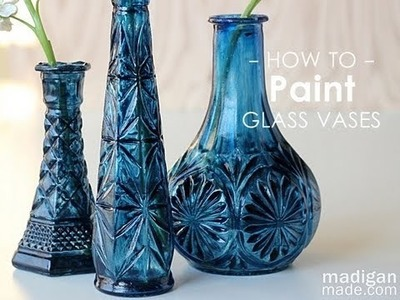 How to Paint Glass: Thrift Store Glass Update