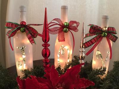 Joy Wine Bottles Lighted