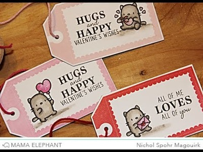 Mama Elephant Little Cat Agenda | Valentine's Tags