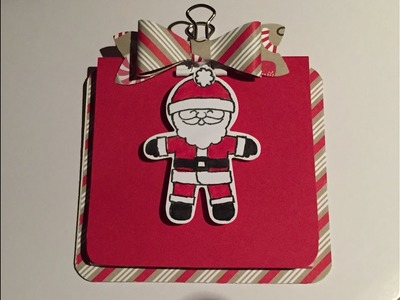Mini notepad clipboard using Stampin' Up! Candy Cane lane