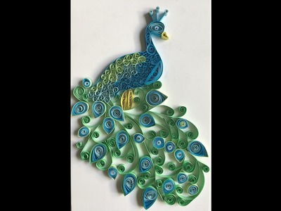 Paper Quilling|Peacock wall art