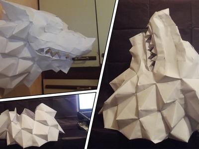 Papercraft Lobo. Wolf GAME OF THRONES