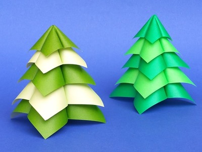 Quick and Easy Origami Christmas Tree