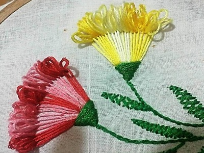 Quilling Made Easy : Hand Embroidery: Beautiful Embroidery Flower Stitch design 2