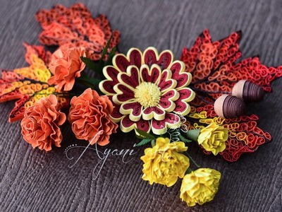 Quilling Tutorial - Marigold Flowers (Fall Wreath - part 2 of 6)