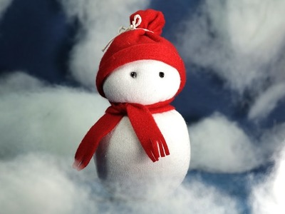 Sock Snowman Craft - Christmas Crafts DIY Tutorial