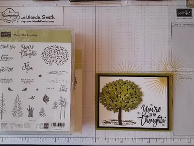 Stampin'Up Thoughtful Branches Sponged Card