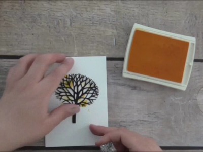 Stampin Up Thoughtful Branches Bundle Colour Splash Card