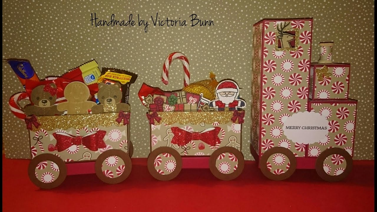 Stampin up xmas count #1 Santa's Train tutorial part 2