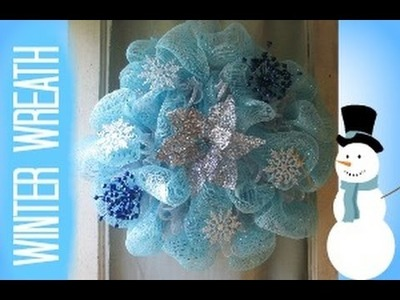 WINTER WONDERLAND DECO MESH WREATH TUTORIAL ~WALMART~