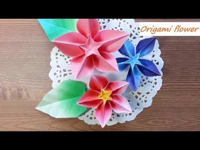 AMAZING origami flowers instructions - How to make EASY origami Lily Iris and Carambola