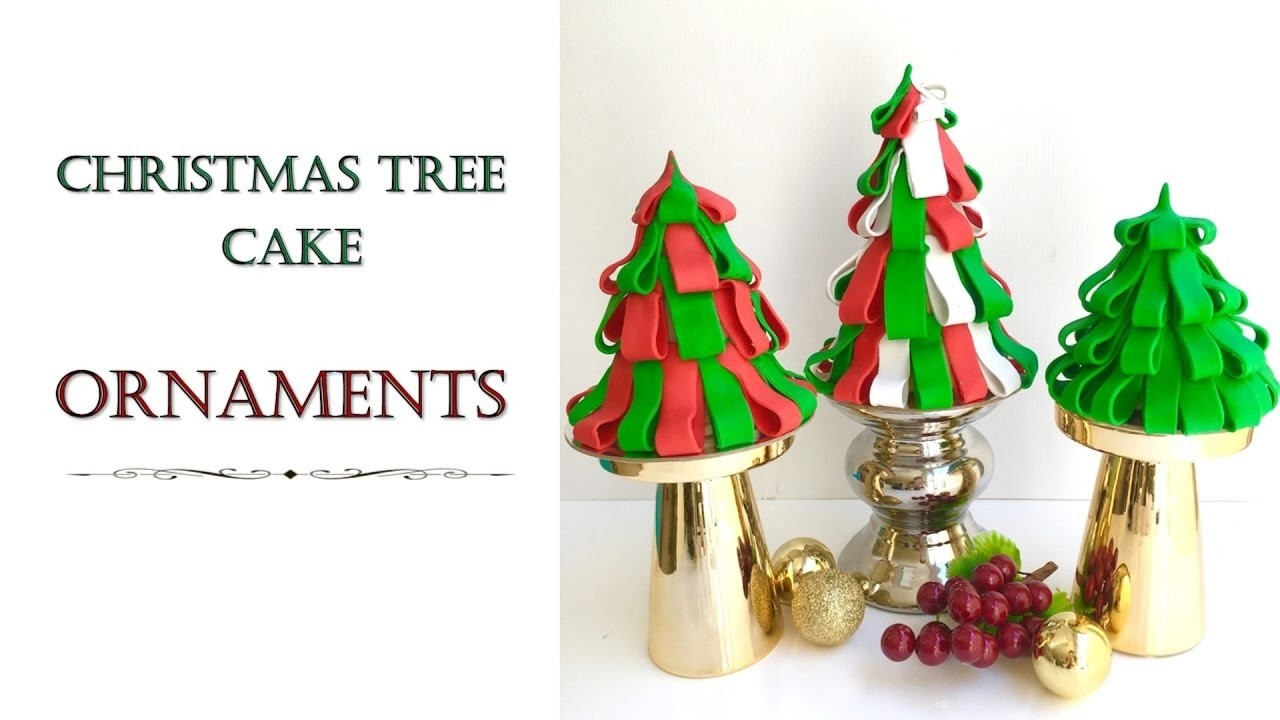 Christmas Tree Ornament Cake   How to make from Creative Cakes by Sharon
