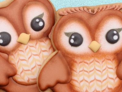 Decorated Owl Cookie Tutorial - How to make cute owl cookies
