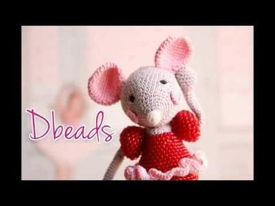 Diddlisha crochet Dbeads mouse crochet with beads