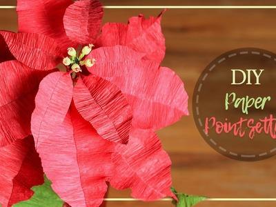 DIY Crepe Paper Pointsettia Flowers