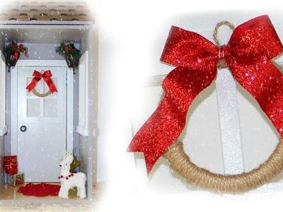 DIY Doll Wreaths | American Girl Doll Crafts