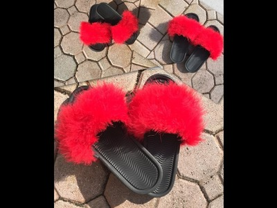 DIY Fluffy Slides - Rihanna Puma Fenty Slides Inspired