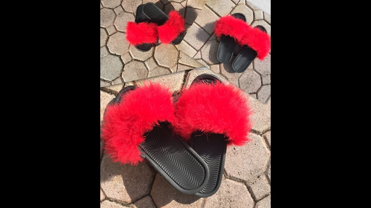 DIY Fluffy Slides - Rihanna Puma Fenty Slides Inspired