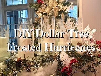 DIY Frosted Hurricanes Holiday Dollar Tree How-to