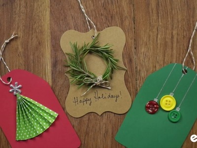 DIY Holiday Gift Tags Done 3 Ways