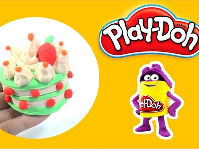 DIY How to Make Beautiful Play Doh Birthday Cake - Homemade Playdoh for Kids