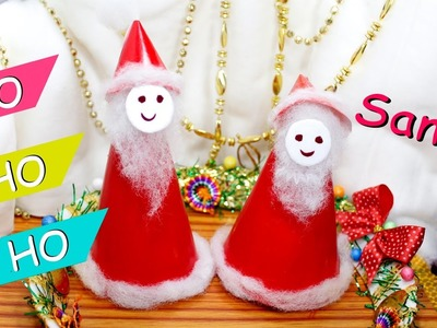 DIY santa claus how to make with paper and decorate to look preety. christmas decoration idea