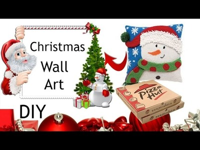 DIY Wall Arts. Christmas Decoration on Budget. Holiday Decor Ideas