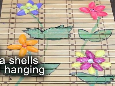 DIY Wall Hanging with Pista shells   || Useful Crafts with Waste Material || Krafts n Creations
