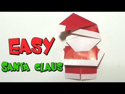 Easy origami for kids - How to make Santa Claus.Christmas DIY