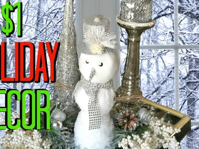 Faux Fur GLAM Snowman - DIY Christmas Decorations